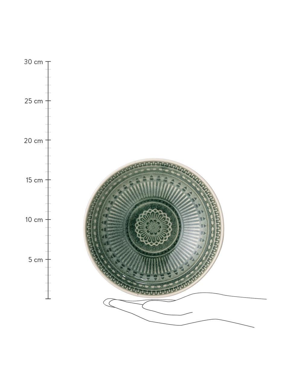 Handgemaakte schaal Rani in Marokkaanse stijl, Ø 18 cm, Keramiek, Groen, Ø 18 cm