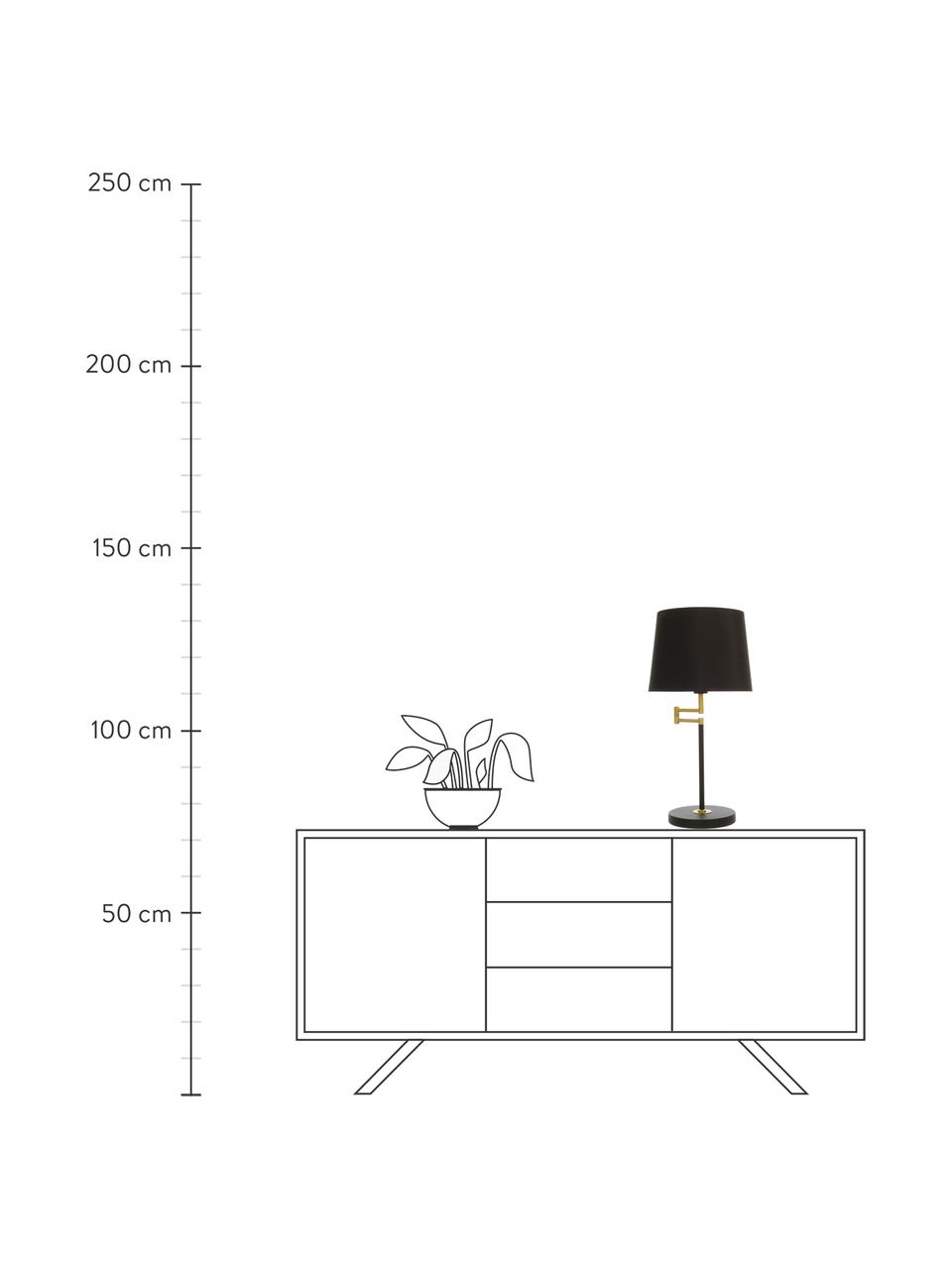 Velká stolní lampa Birka, Černá, zlatá