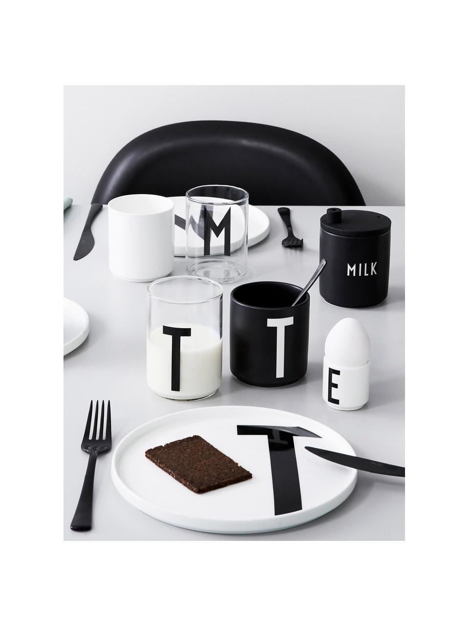 Verre à eau design Personal (variantes allant de AàZ), Transparent, noir
