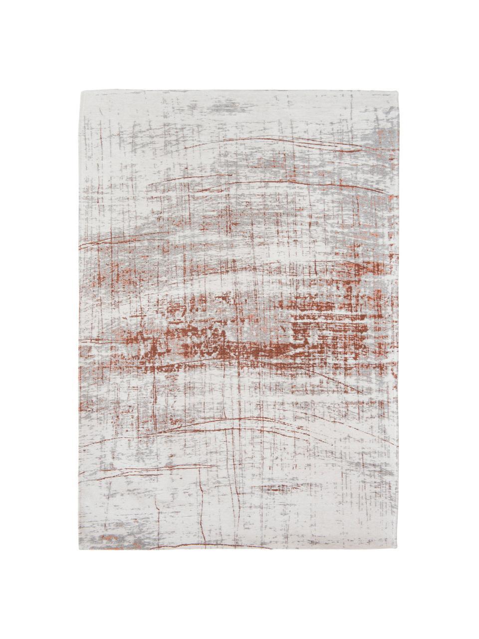 Teppich Griff, Vorderseite: 85%Baumwolle, 15%hochgl, Webart: Jacquard, Rückseite: Baumwollgemisch, latexbes, Vorderseite:Grau, Kupferfarben, gebrochenes Weiß, B 140 x L 200 cm (Größe S)
