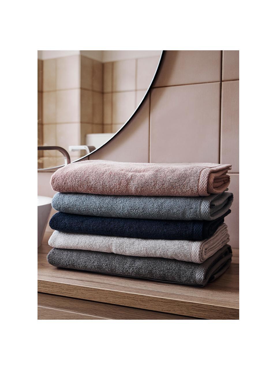Set 3 asciugamani in tinta unità Comfort, Grigio chiaro, Set in varie misure