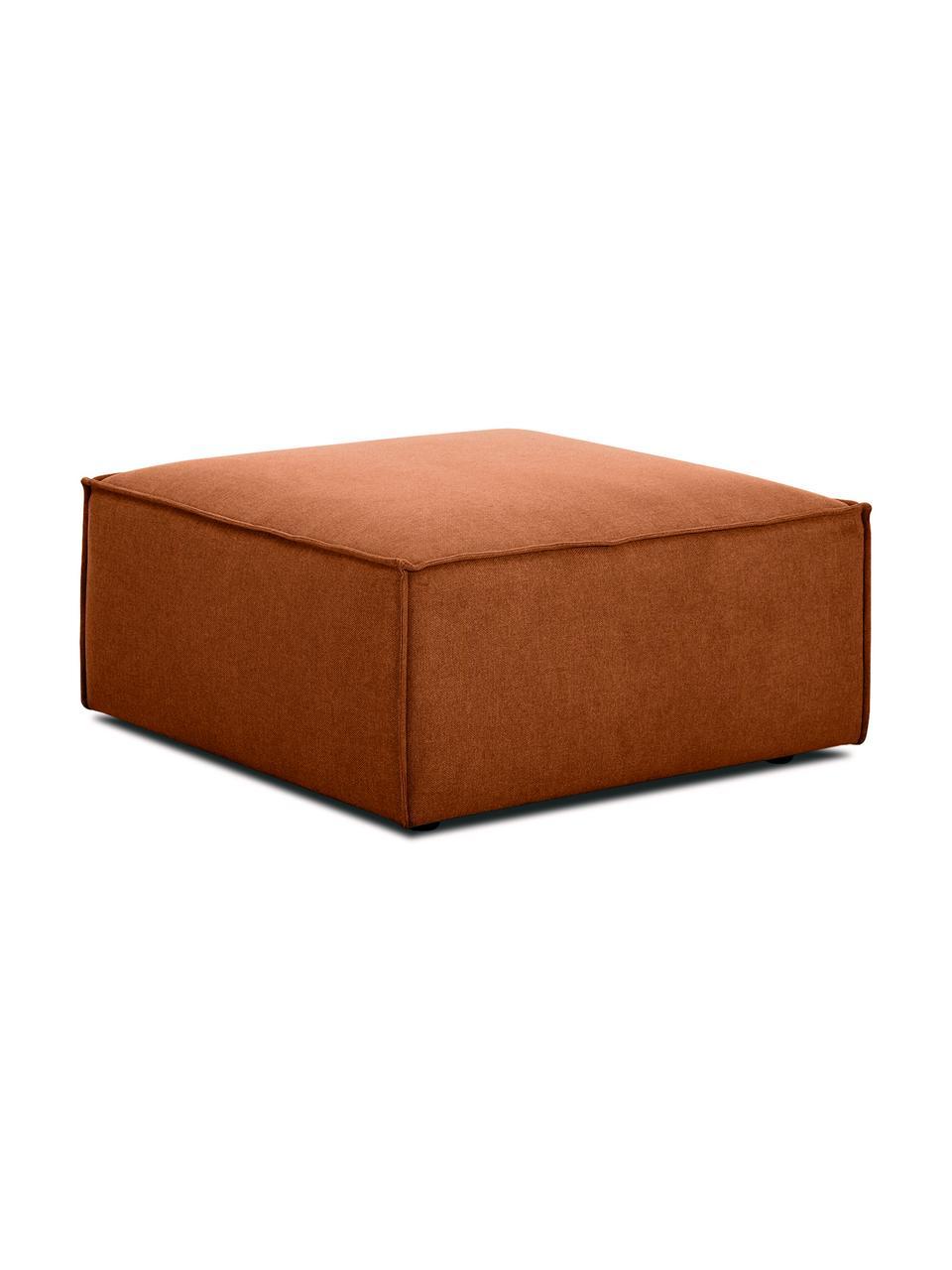 Sofa-Hocker Lennon in Terrakotta, Bezug: Polyester Der hochwertige, Gestell: Massives Kiefernholz, Spe, Füße: Kunststoff Die Füße befin, Webstoff Terrakotta, 88 x 43 cm