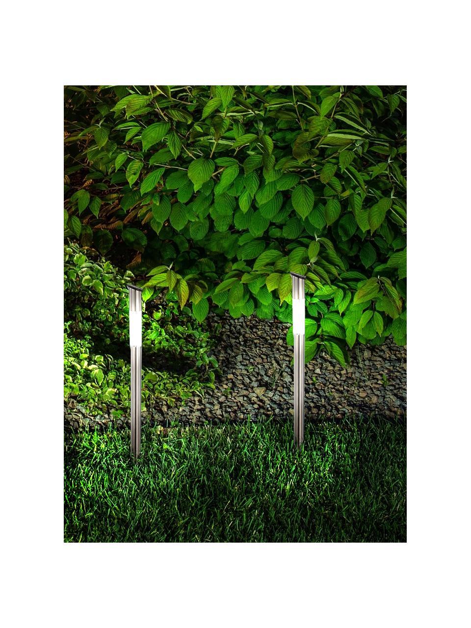 Zewnętrzna lampa solarna Thin, 6 szt., Stal szlachetna, Ø 6 x W 60 cm