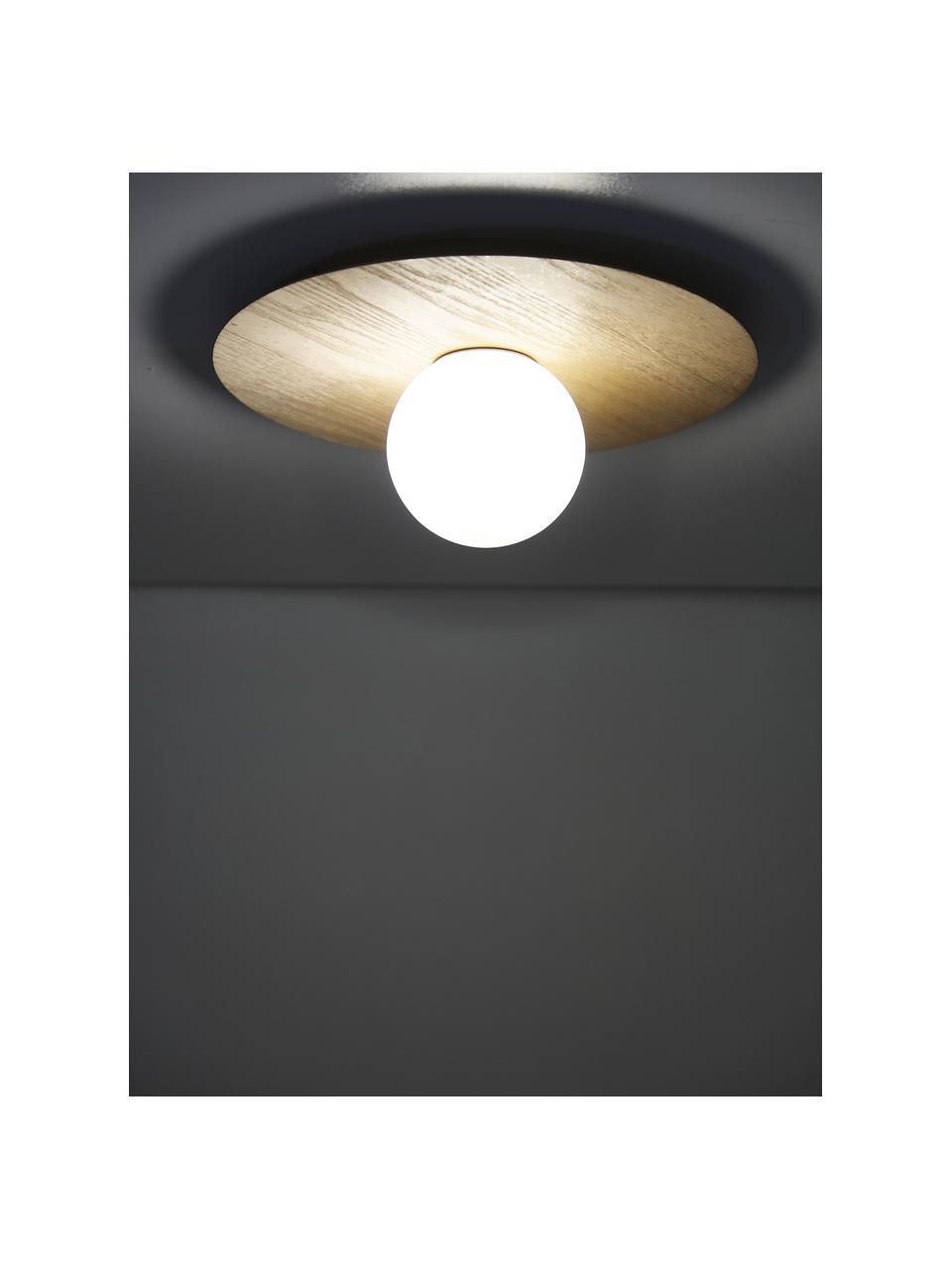 Plafonnier / applique aspect bois Starling, Brun