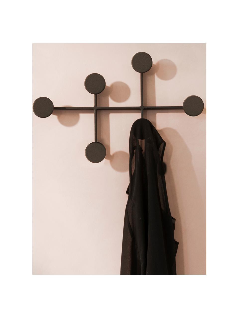 Wieszak ścienny Afteroom Coat Hanger, Stal malowana proszkowo, Czarny, S 37 x W 24 cm