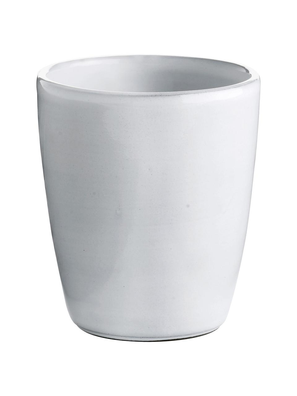 Kubek z ceramiki Haze, 2 szt., Ceramika szkliwona, Biały, szary, Ø 10 x W 11 cm