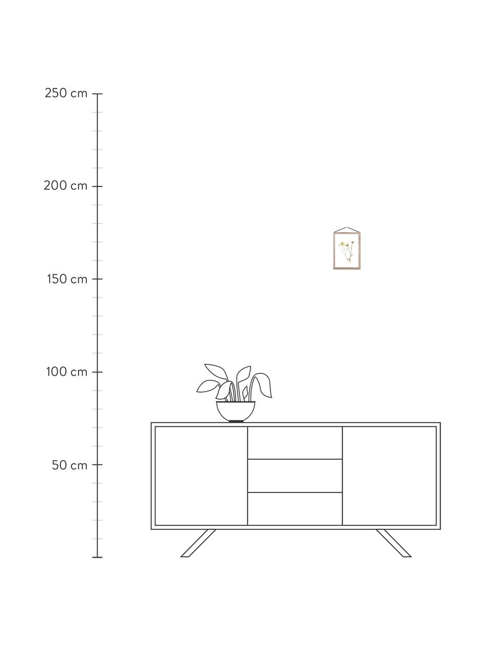 Bilderrahmen Frame, Rahmen: Eichenholz, unbehandelt, Rahmen: Eiche Aufhängung: Schwarz Front und Rückseite: Transparent, 23 x 31 cm