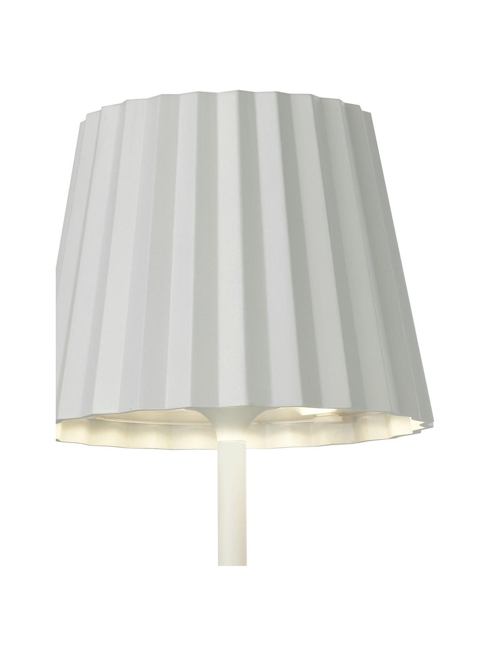 Zewnętrzna mobilna lampa stołowa z funkcją przyciemniania Trellia, Biały, Ø 15 x W 38 cm