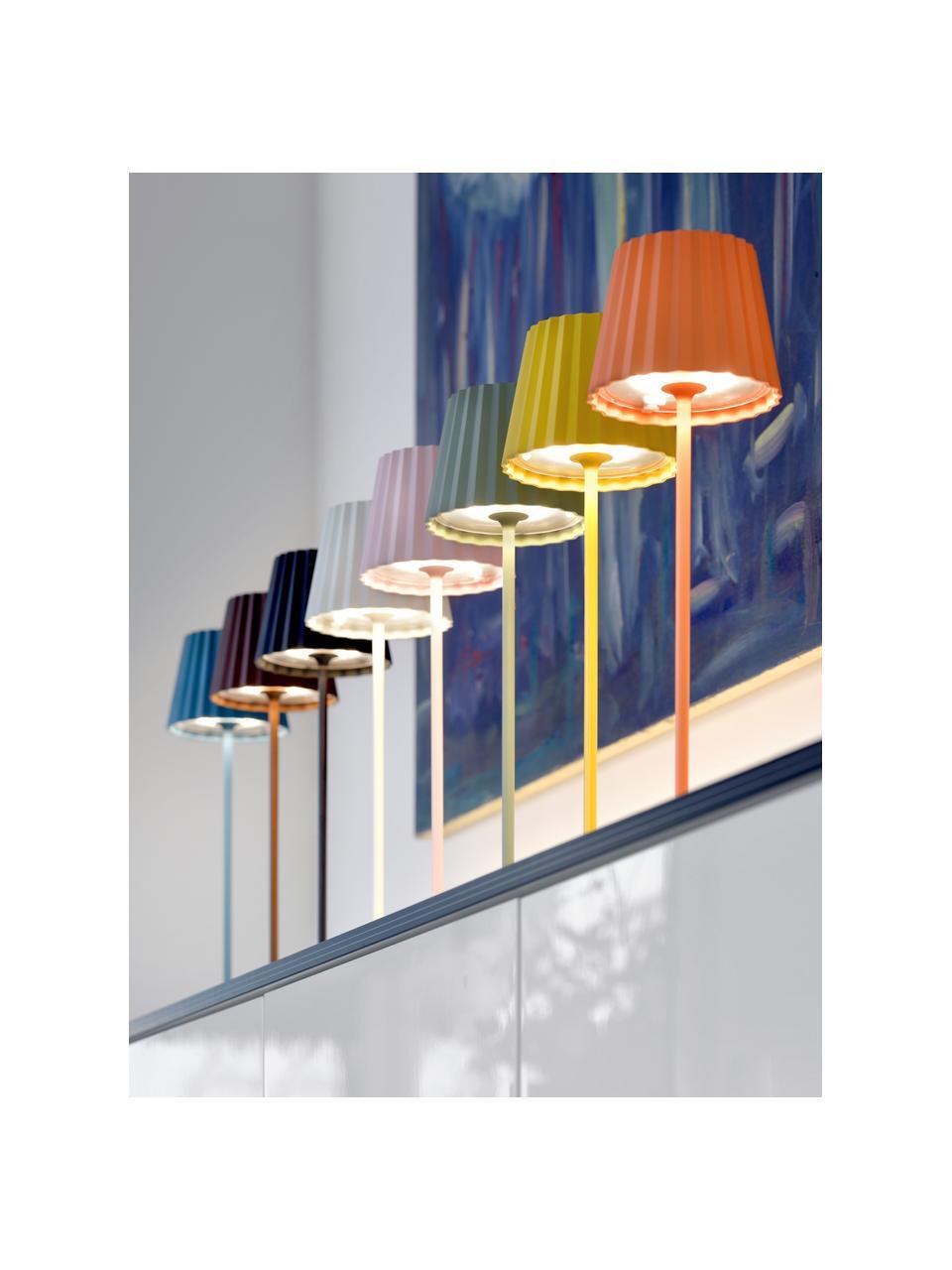Mobile Dimmbare Außentischlampe Trellia, Lampenschirm: Aluminium, lackiert, Lampenfuß: Aluminium, lackiert, Weiß, Ø 12 x H 38 cm