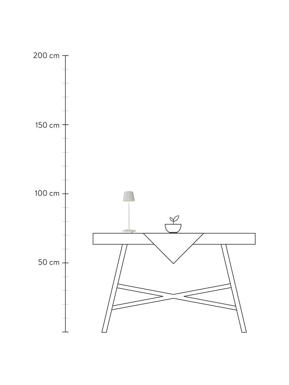 Lampe à poser d'extérieur LED mobile intensité variable Trellia, Blanc