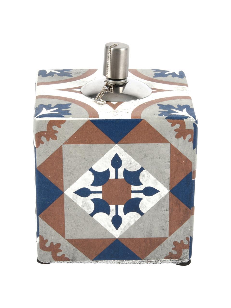 Lampada a olio Tiles, Acciaio inossidabile, cemento, verniciato, Multicolore, Larg. 13 x Alt. 17 cm