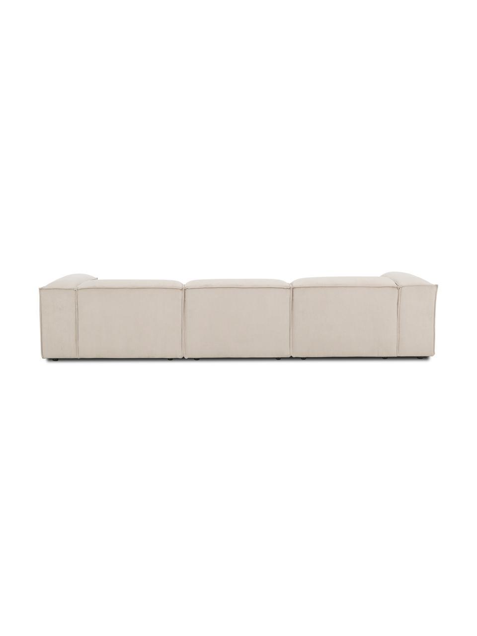 Canapé d'angle velours côtelé beige Lennon, Velours côtelé beige