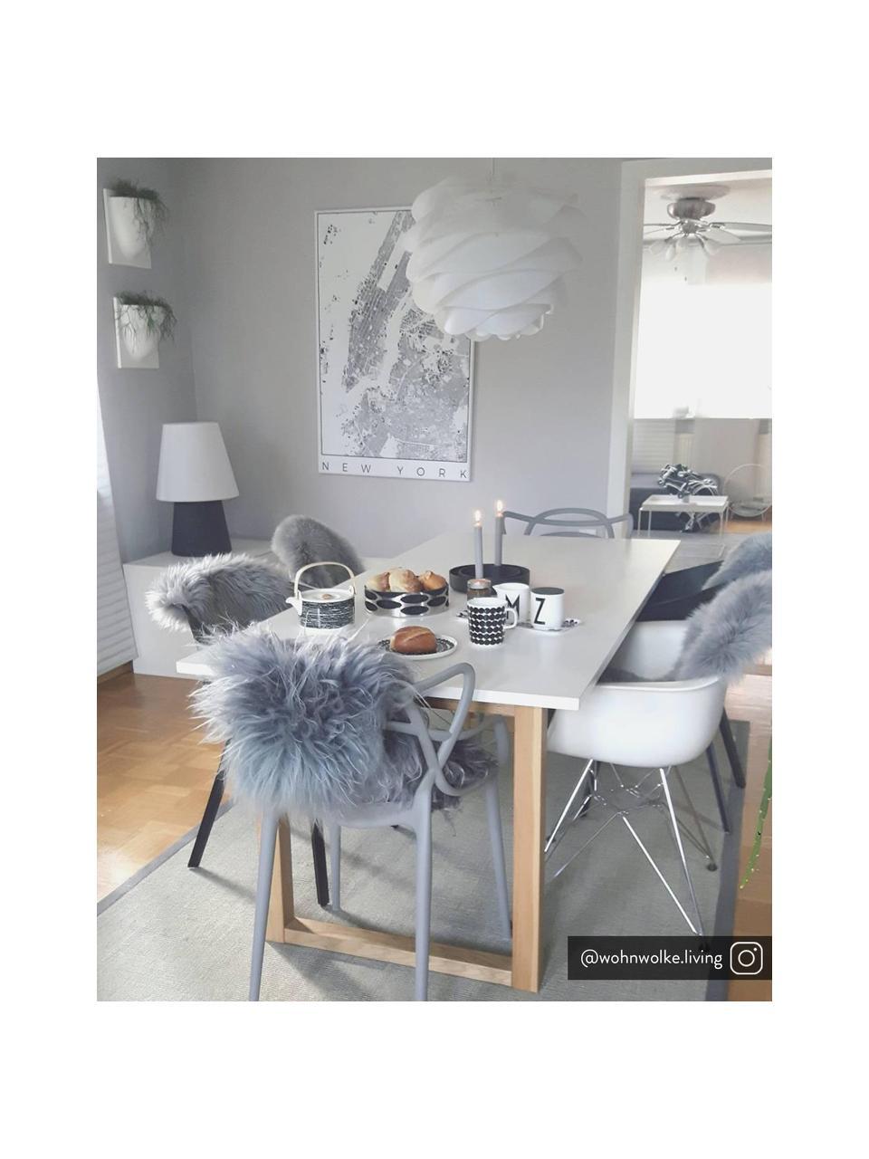 Pendelleuchte Carmina, Bausatz, Lampenschirm: Polypropylen, Baldachin: Kunststoff, Weiß, Ø 48 x H 36 cm
