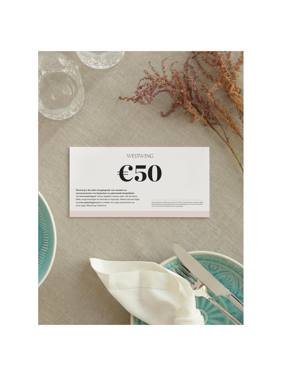Cadeaubon, Cadeaubon op hoogwaardig papier., Wit, 50