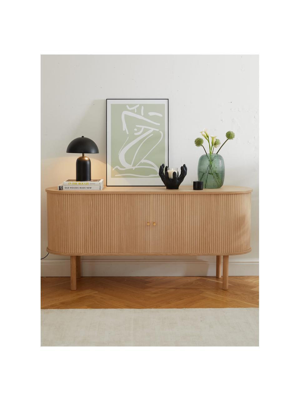 Lampa stołowa w stylu retro Walter, Czarny matowy, Ø 25 x W 33 cm