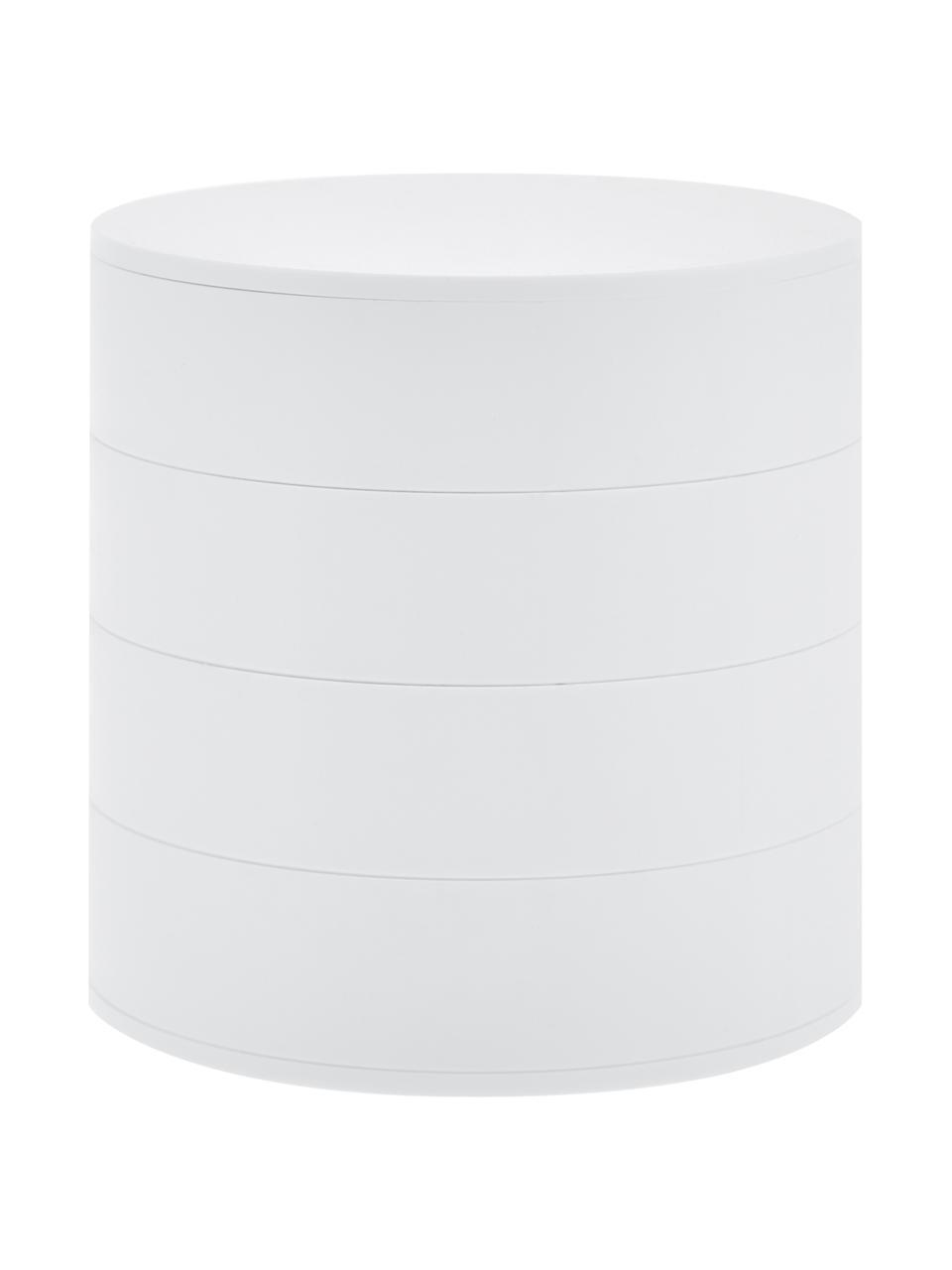 Schmuckdose Tower, Weiß, Ø 10 x H 10 cm
