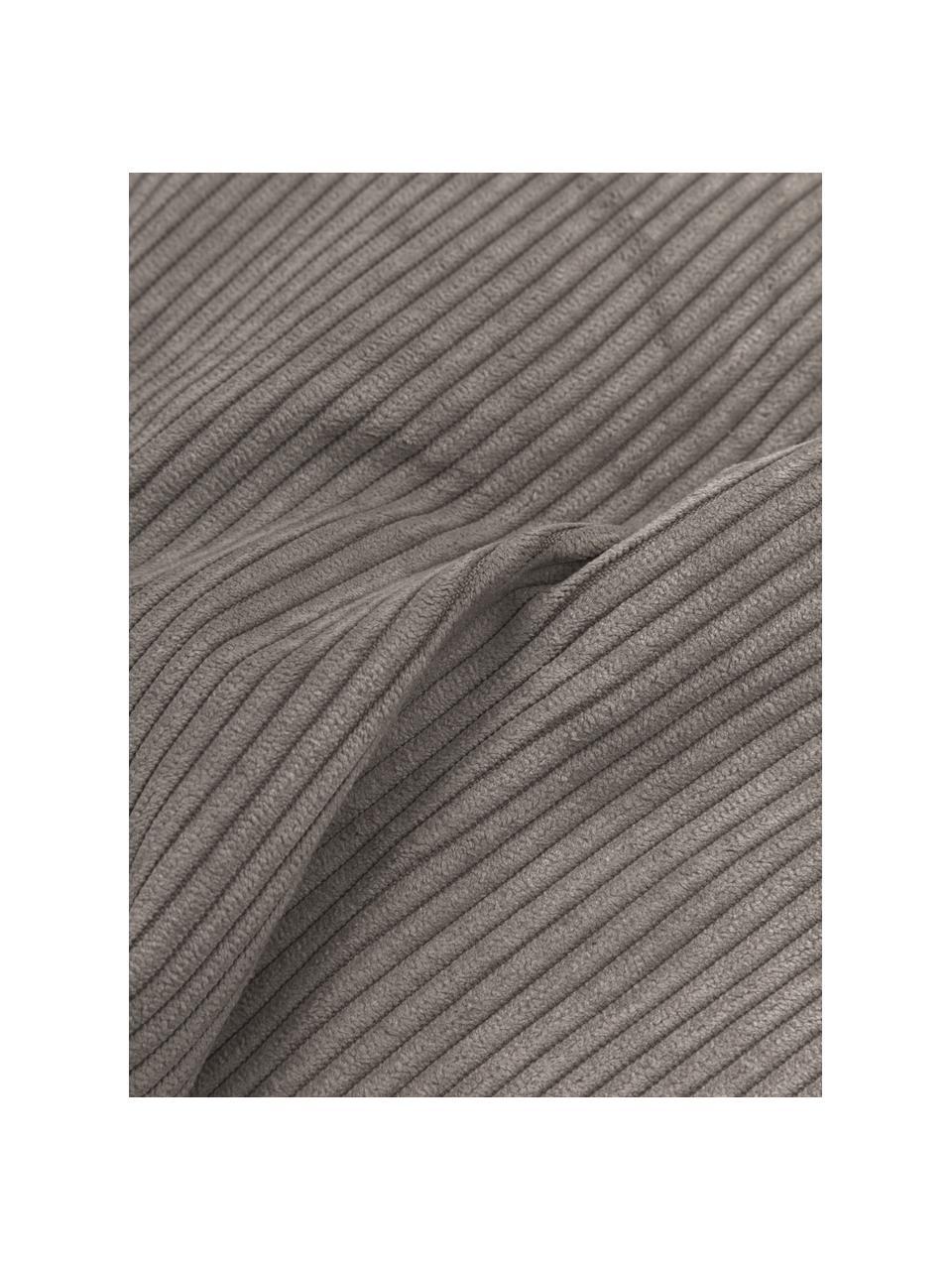 Sofa-Kissen Lennon in Braun aus Cord, Bezug: Cord (92% Polyester, 8% P, Cord Braun, 60 x 60 cm