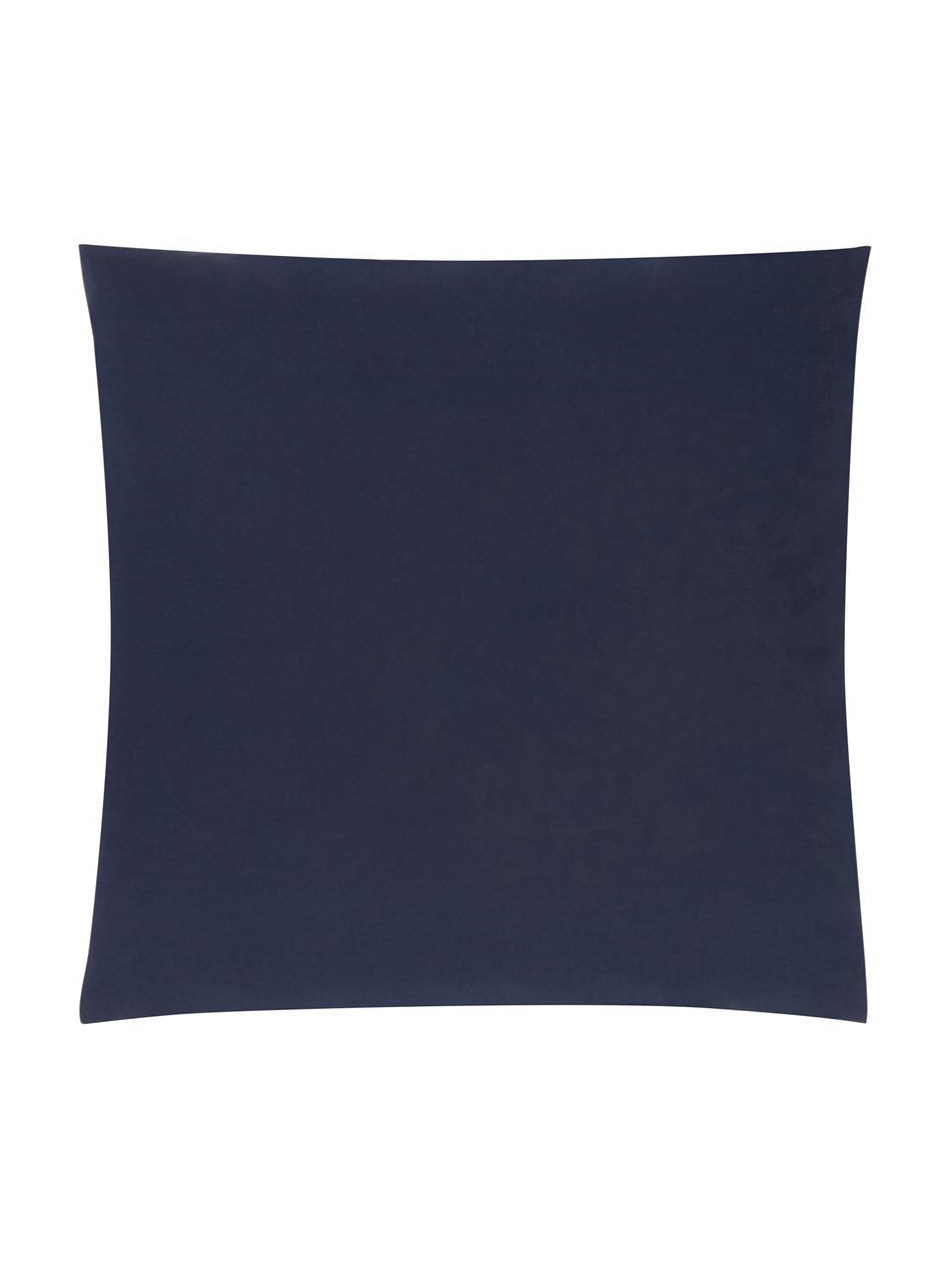Taie d'oreiller 65x65 percale Elsie, 2pièces, Bleu foncé