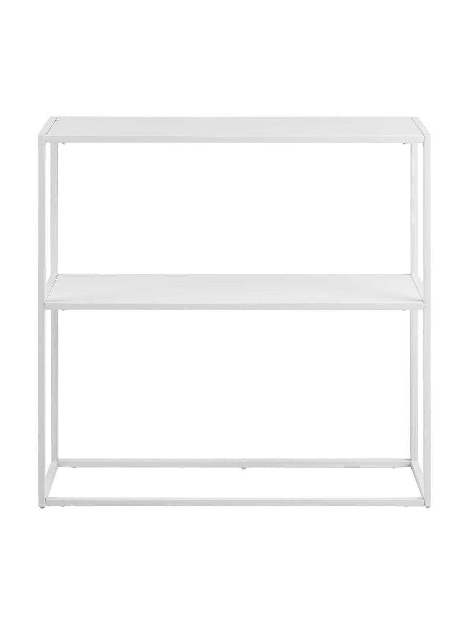 Estantería de metal Newton, Metal con pintura en polvo, Blanco, An 80 x Al 80 cm