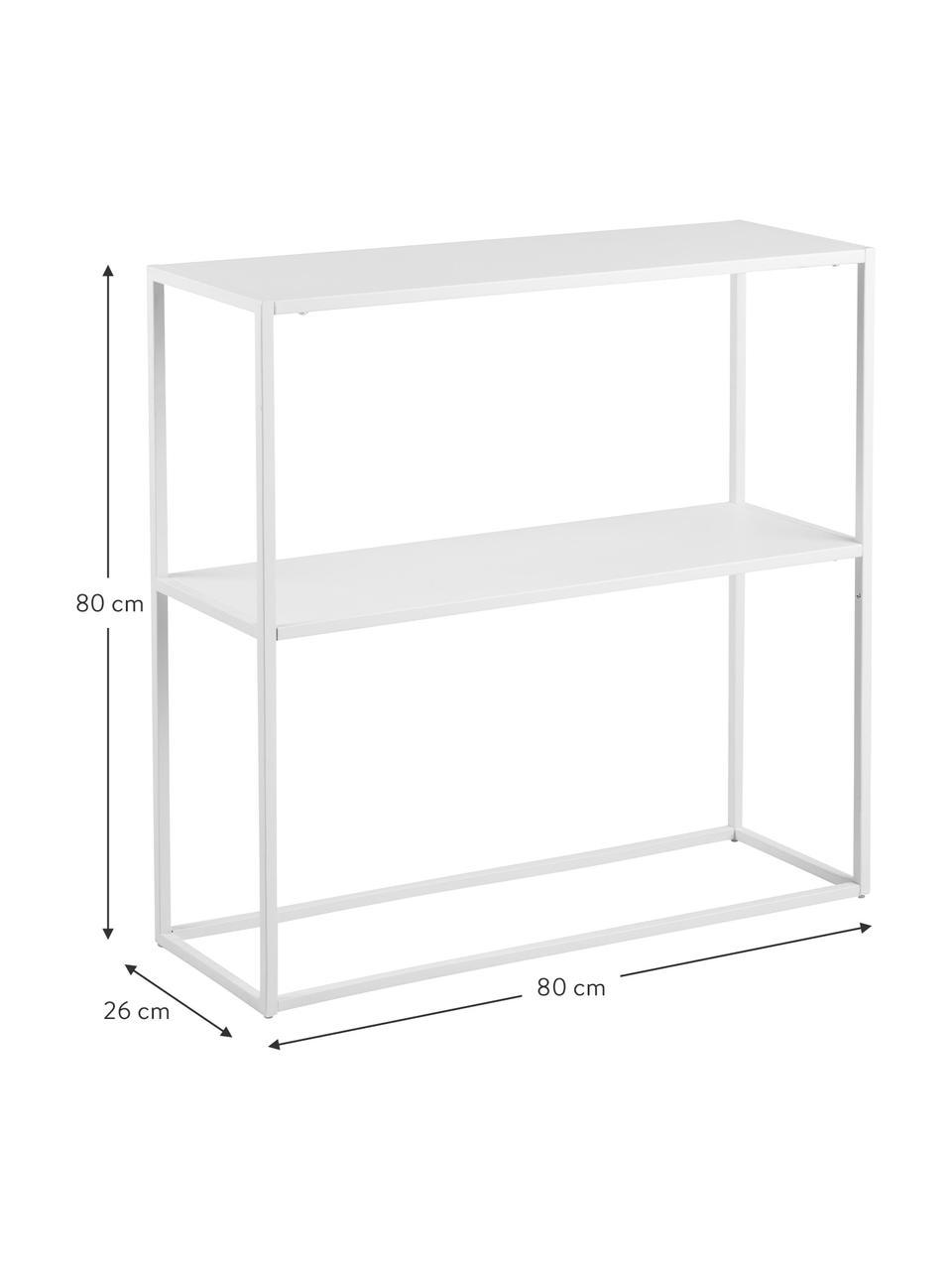 Metall-Regal Newton in Weiß, Metall, pulverbeschichtet, Weiß, 80 x 80 cm