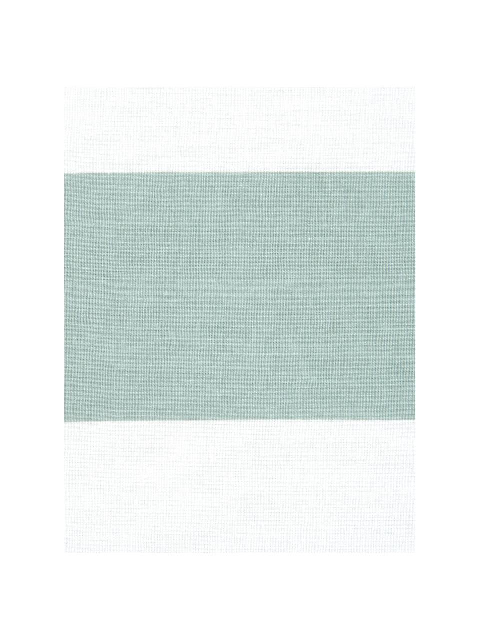 Parure copripiumino reversibile in cotone ranforce a righe Lorena, Tessuto: Renforcé, Verde salvia, bianco, 255 x 200 cm