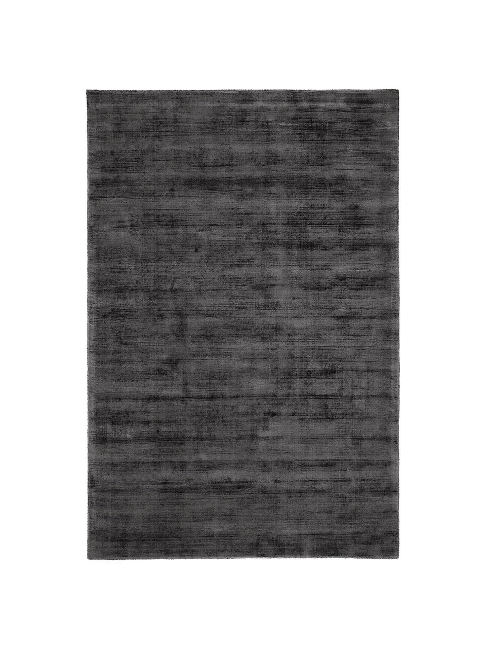 Ręcznie tkany dywan z wiskozy Jane, Antracytowy-czarny, S 160 x D 230 cm (Rozmiar M)