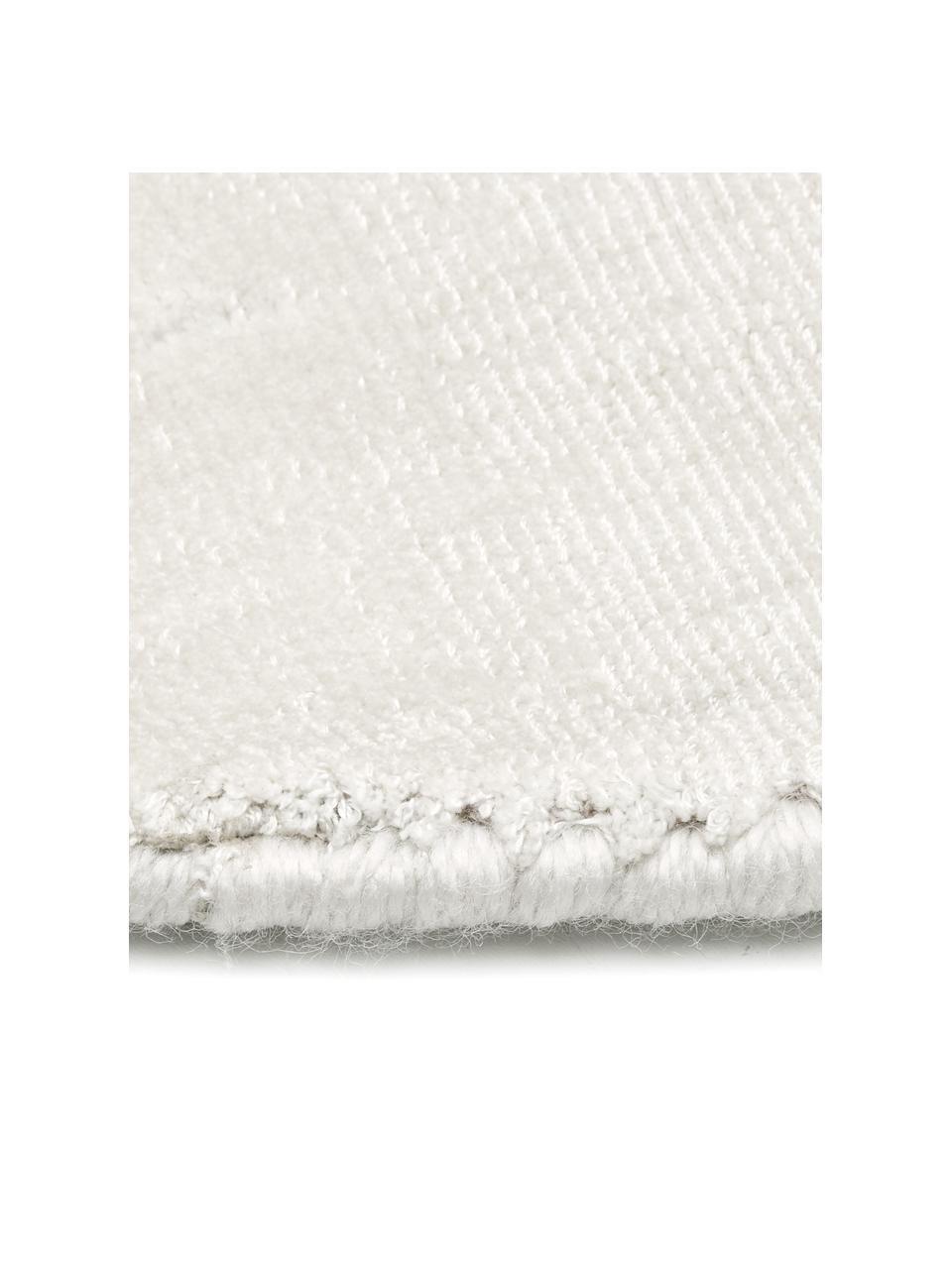 Okrągły ręcznie tkany dywan z wiskozy Jane, Odcienie kości słoniowej, Ø 200 cm (Rozmiar L)