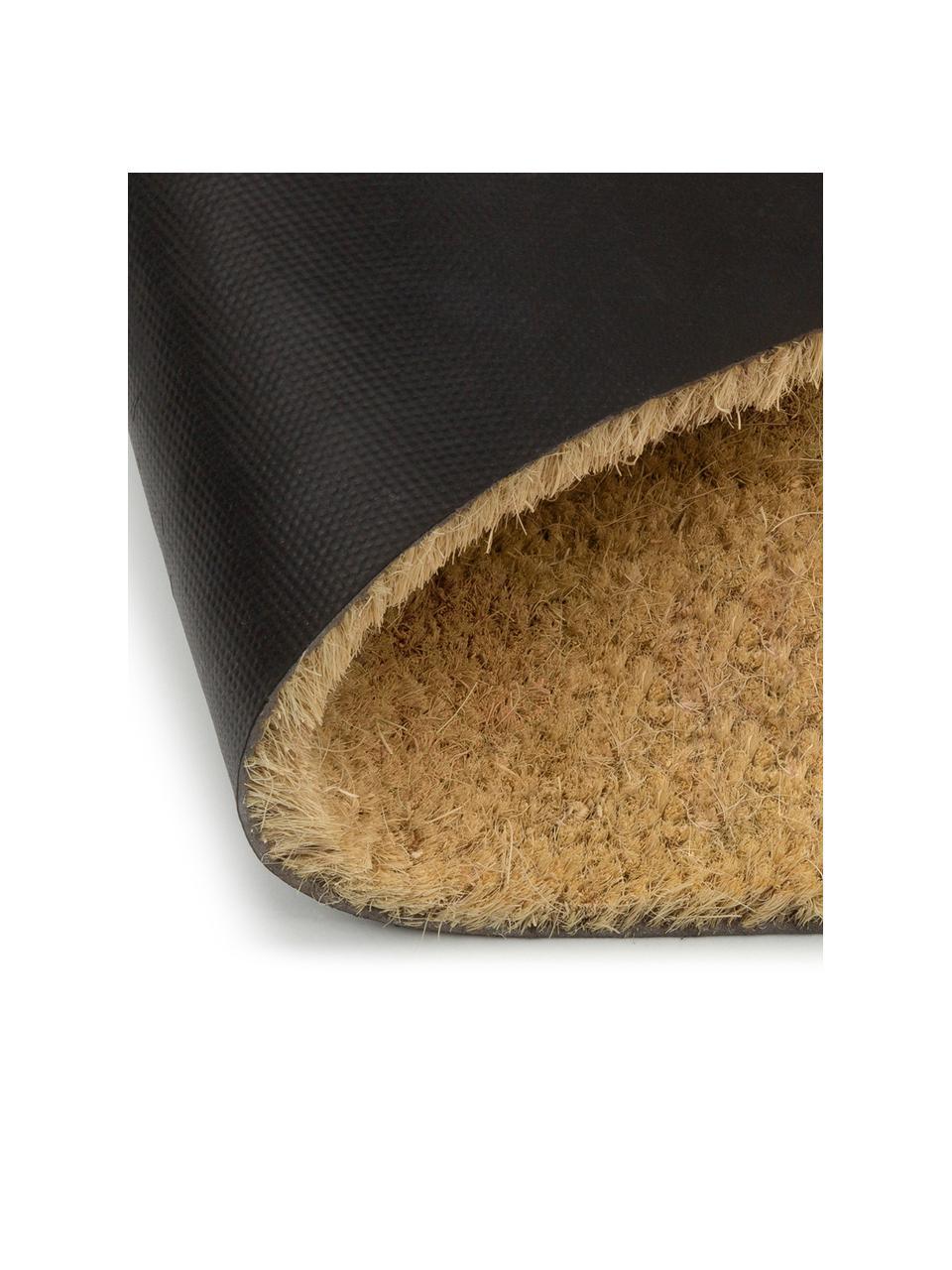 Zerbino antiscivolo in fibra di cocco Welcome, Fibra di cocco, Zerbino: beige Scritta: nero, Larg. 40 x Lung. 60 cm