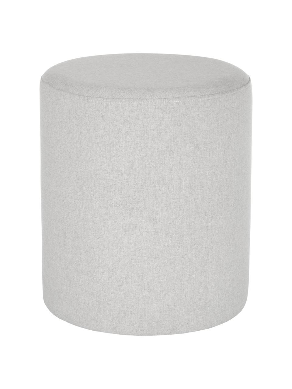 Kruk Daisy in lichtgrijs, Bekleding: 100% polyester, Frame: multiplex, Grijs, Ø 38 x H 45 cm