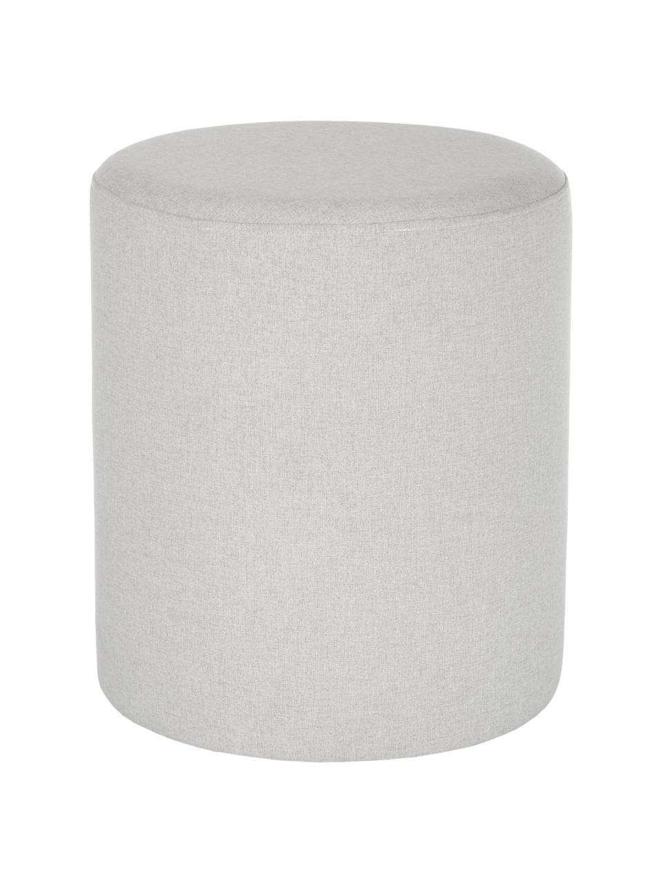 Pouf grigio chiaro Daisy, Rivestimento: 100% poliestere Il rivest, Struttura: compensato, Grigio, Ø 38 x Alt. 45 cm