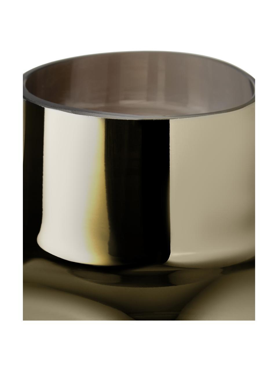 Vaso decorativo in vetro soffiato Uma, Vetro, Trasparente, dorato, Ø 16 x Alt. 27 cm