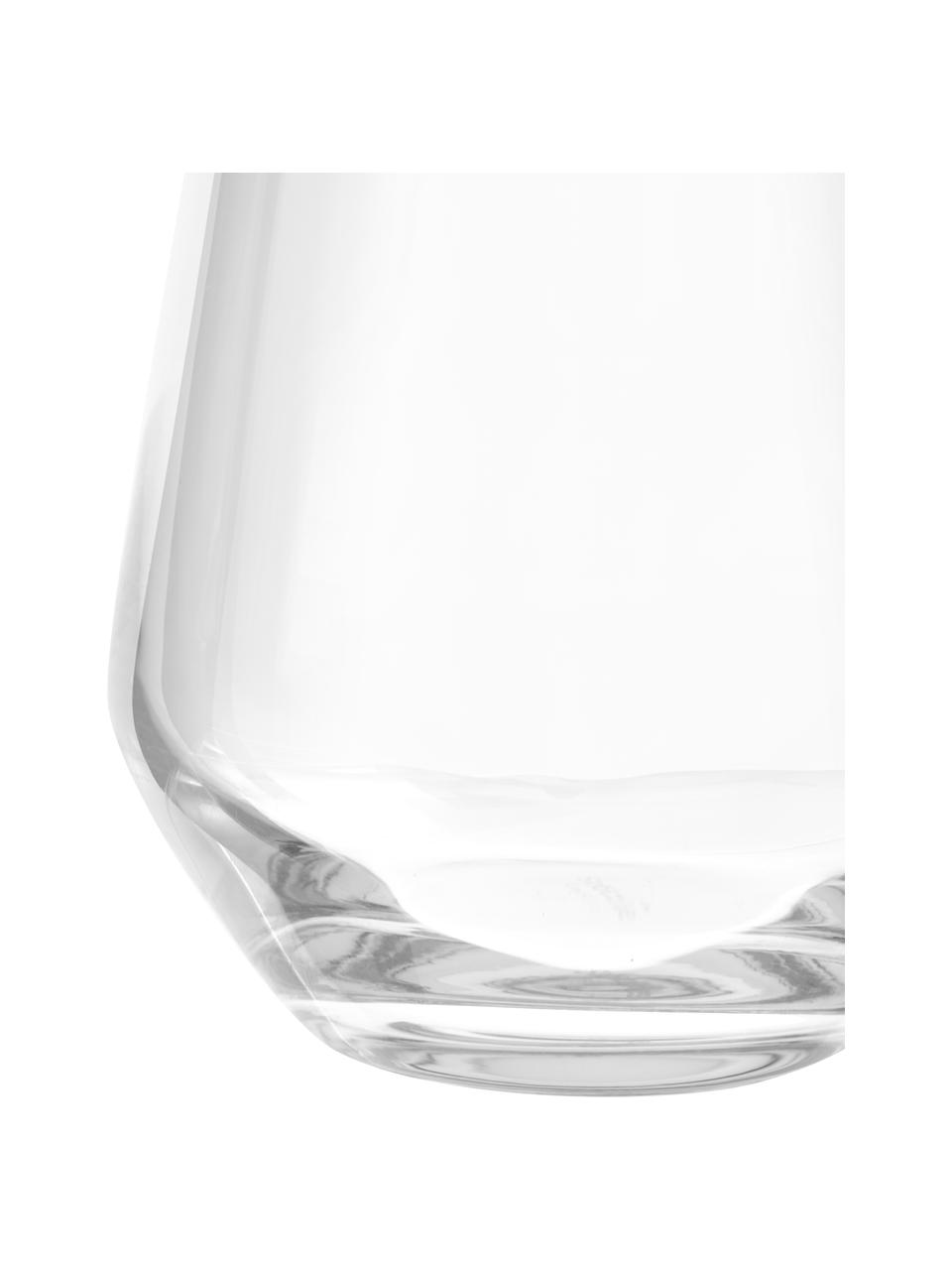 Bauchige kristalglazenwaterglazen Revolution, 6er-set, Kristalglas, Transparant, Ø 9 x H 11 cm