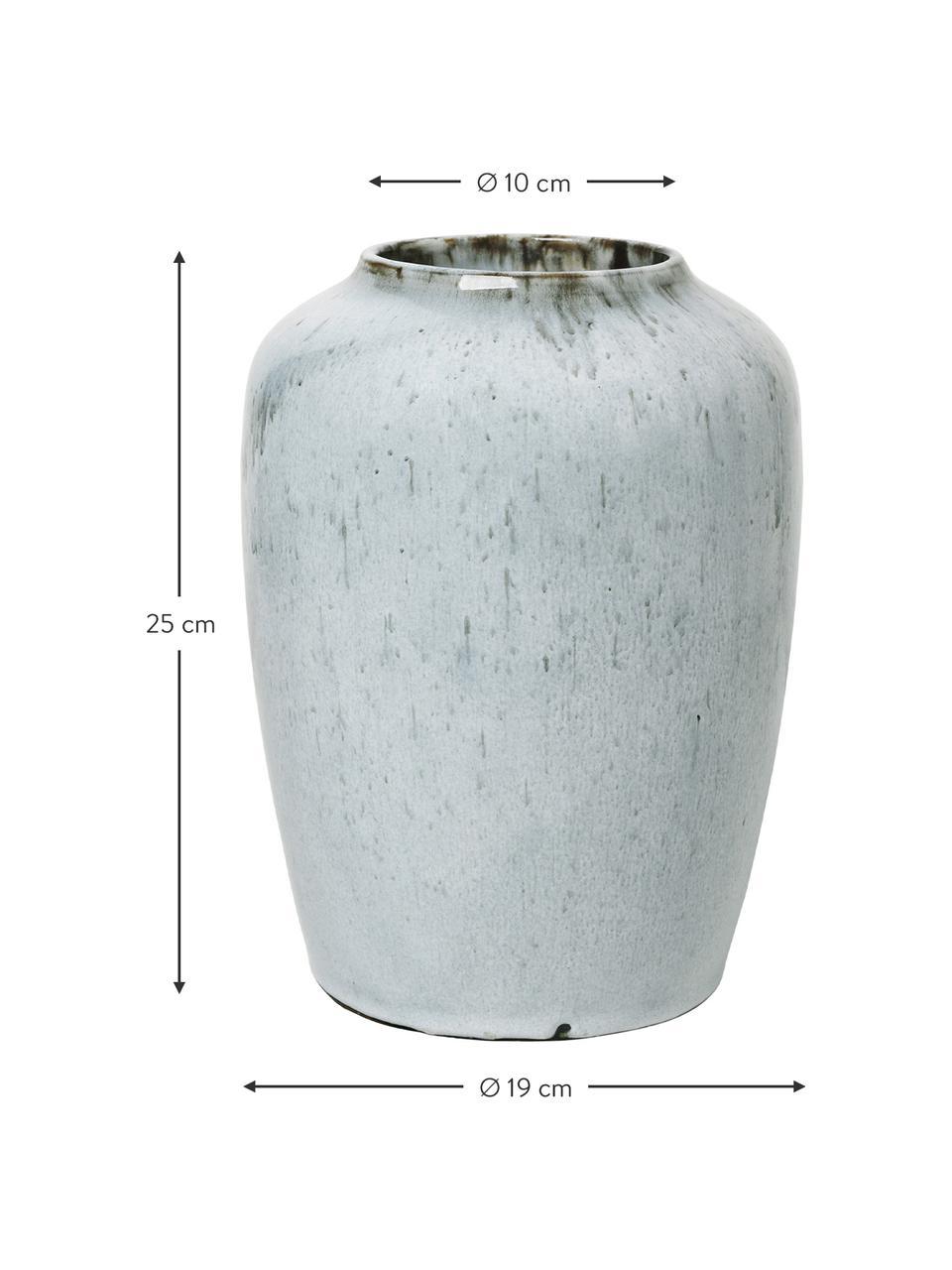 Wazon z ceramiki Lem, Ceramika, Jasny niebieski, Ø 19 x W 25 cm
