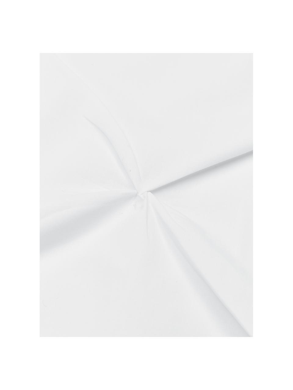 Baumwollperkal-Bettwäsche Brody mit Steppmuster in Origami-Optik, Webart: Perkal Fadendichte 200 TC, Weiß, 135 x 200 cm + 1 Kissen 80 x 80 cm
