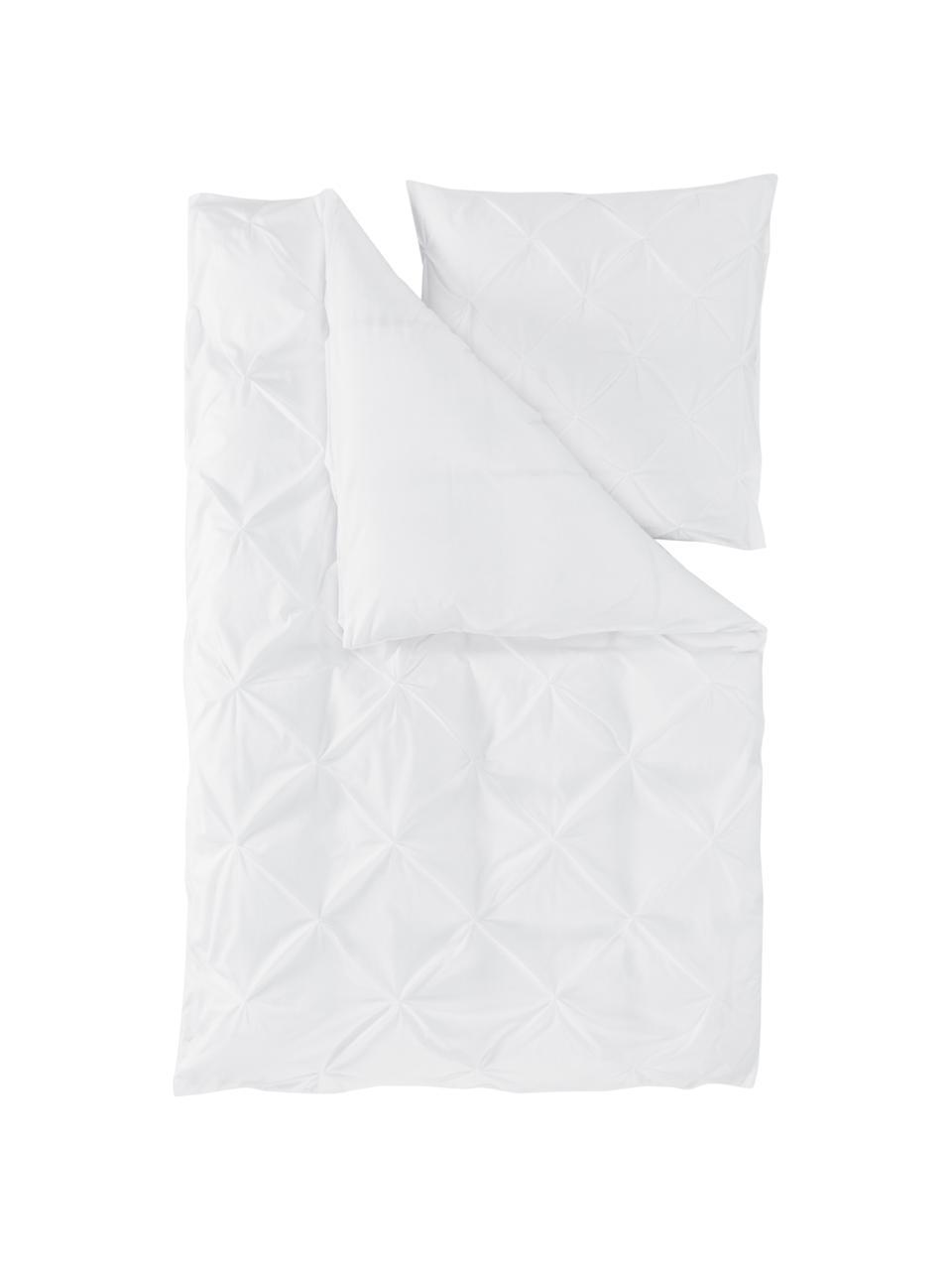 Pościel z perkalu Brody, Biały, 135 x 200 cm + 1 poduszka 80 x 80 cm