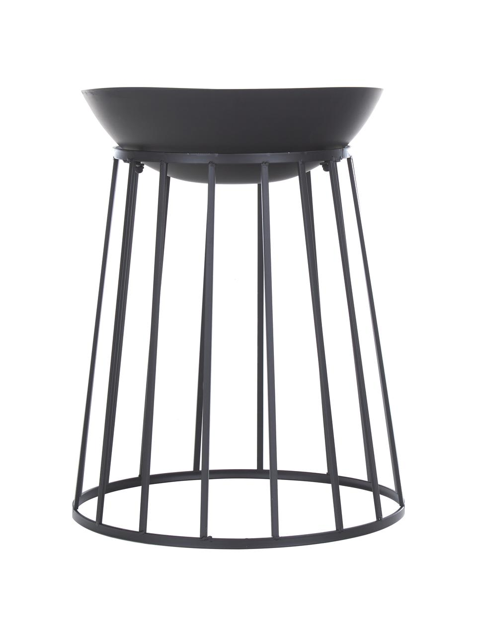 Feuerschale Efesto, Stahl, pulverbeschichtet, hochtemperaturbeständig, Schwarz, Ø 50 x H 63 cm