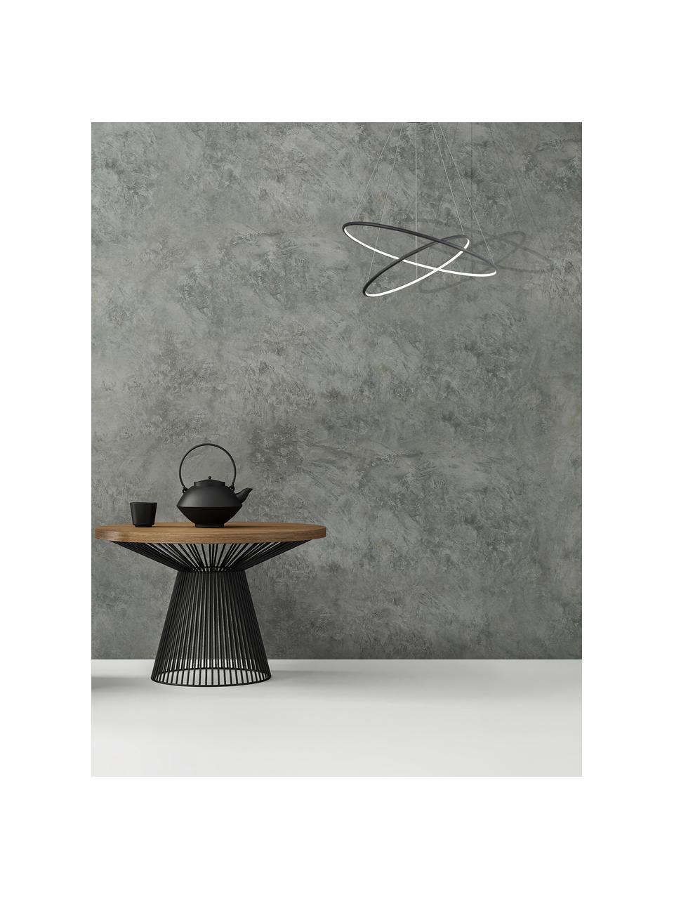 Große LED-Pendelleuchte Orion, Lampenschirm: Metall, beschichtet, Baldachin: Metall, beschichtet, Schwarz, Ø 60 x H 50 cm