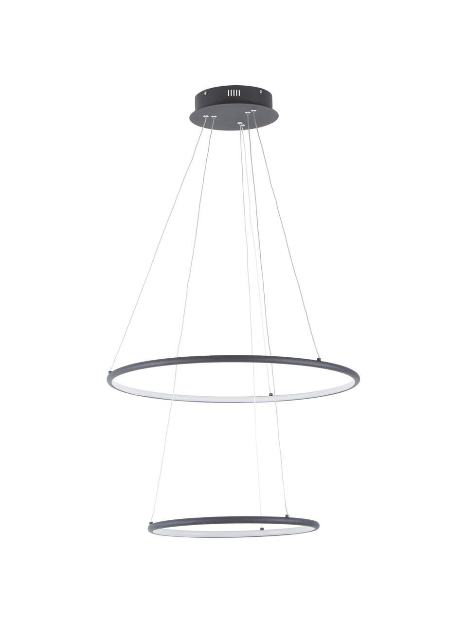 Lampada a sospensione a LED Orion, Paralume: metallo rivestito, Baldacchino: metallo rivestito, Nero, Ø 60 cm x Alt. 50 cm