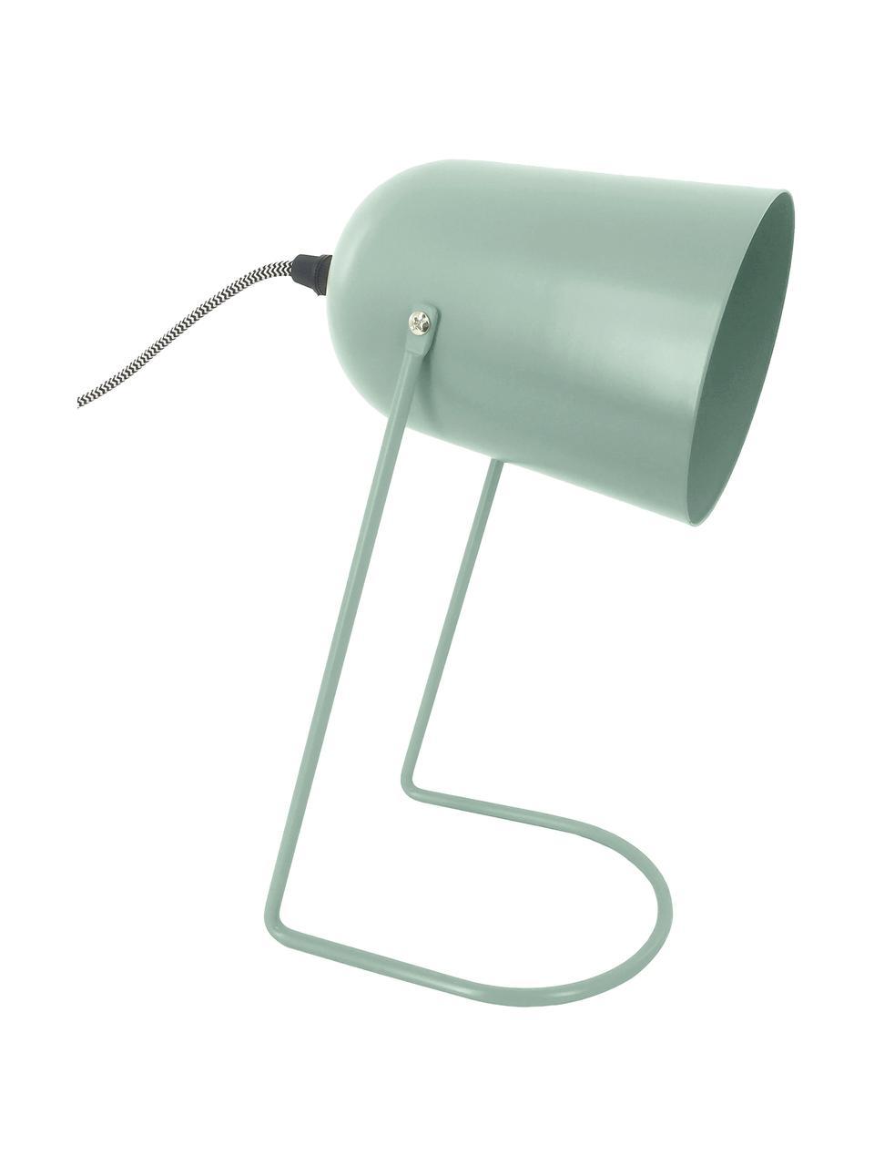 Lampada da comodino piccola Enchant, Paralume: metallo rivestito, Base della lampada: metallo rivestito, Verde, Ø 18 x Alt. 30 cm
