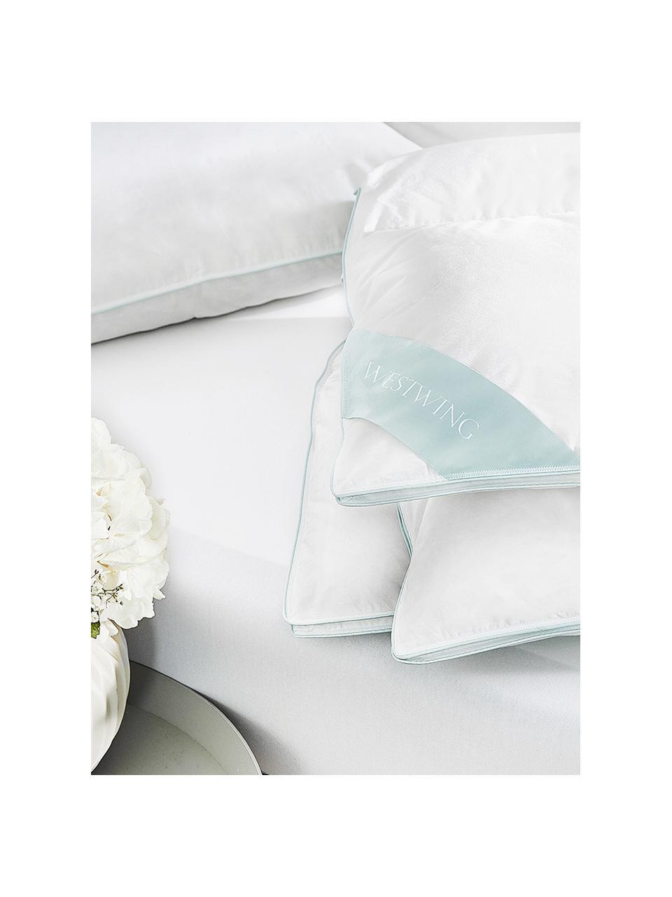 Puchowa kołdra kasetowa Comfort, lekka, Biały, S 135 x D 200 cm