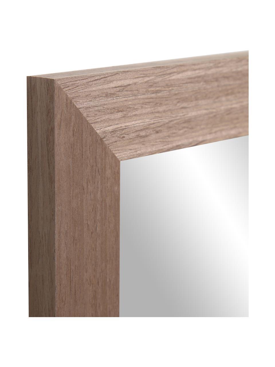 Wandspiegel Wilany met met houten lijst, Lijst: hout, Donkerbruin, 47 x 58 cm