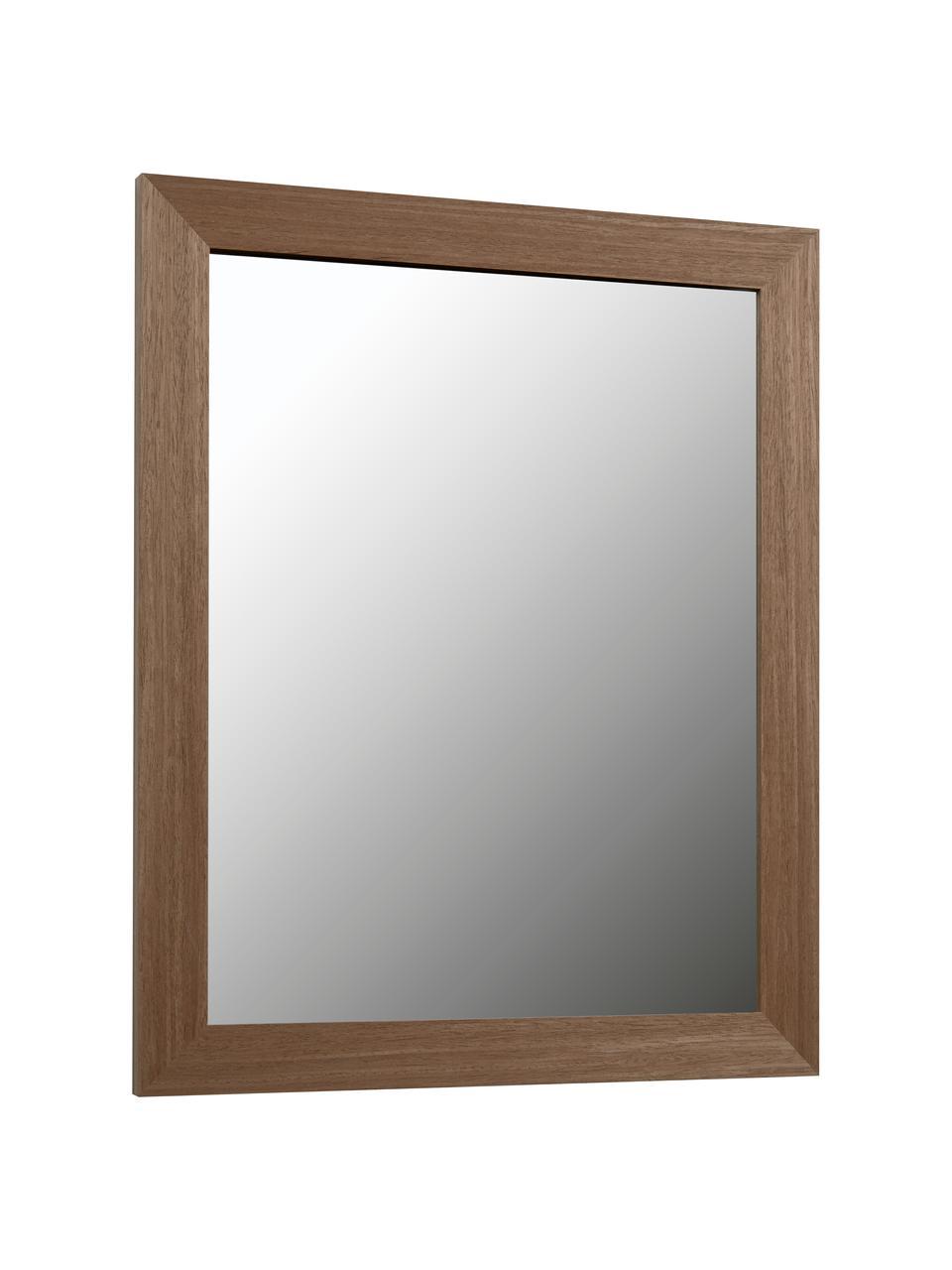 Wandspiegel Wilany mit Holzrahmen, Rahmen: Holz, Spiegelfläche: Spiegelglas, Dunkelbraun, 47 x 58 cm