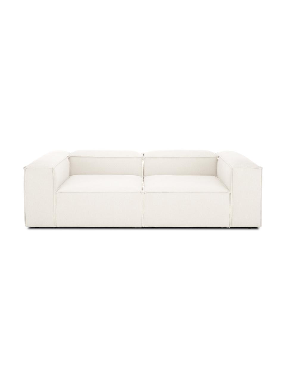 Canapé 3places modulable beige Lennon, Tissu beige