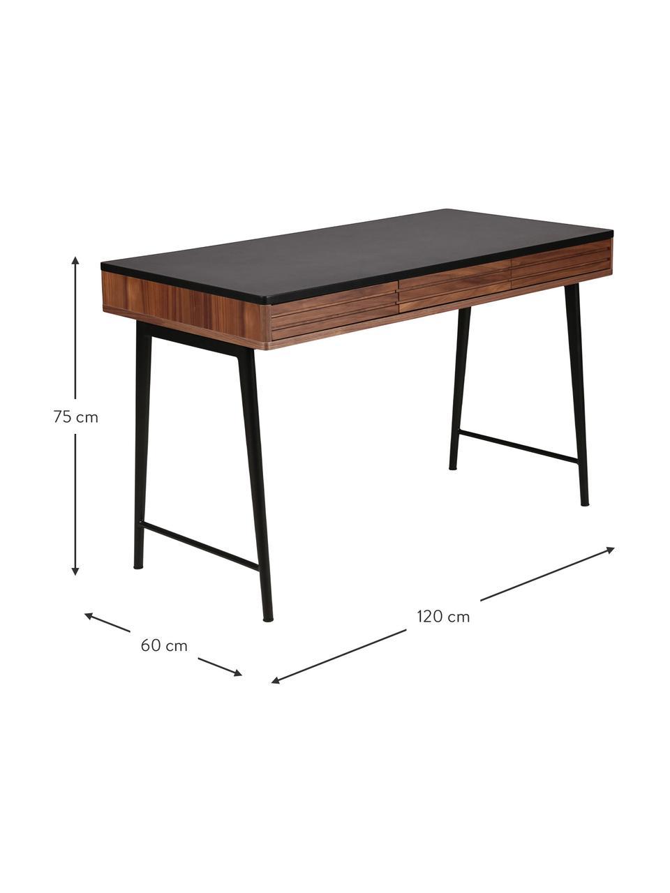 Bureau minimaliste Nuance, Brun, noir