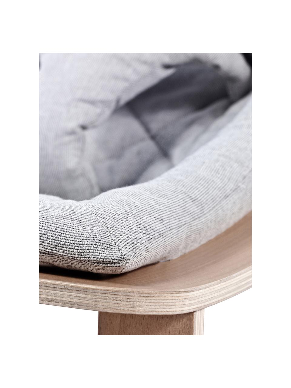 Sdraietta Levo Levo, Struttura: legno di betulla, legno d, Rivestimento: cotone, Marrone chiaro, grigio, Larg. 70 x Alt. 40 cm