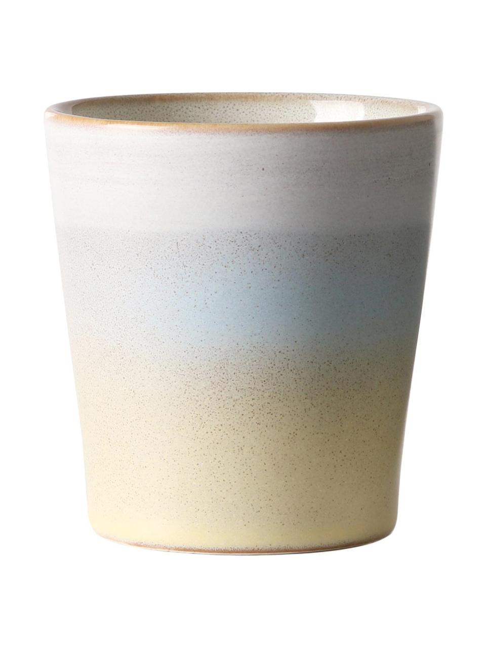 Handgemachte XS Becher 70's im Retro Style, 2er-Set, Keramik, Mehrfarbig, Ø 8 x H 8 cm