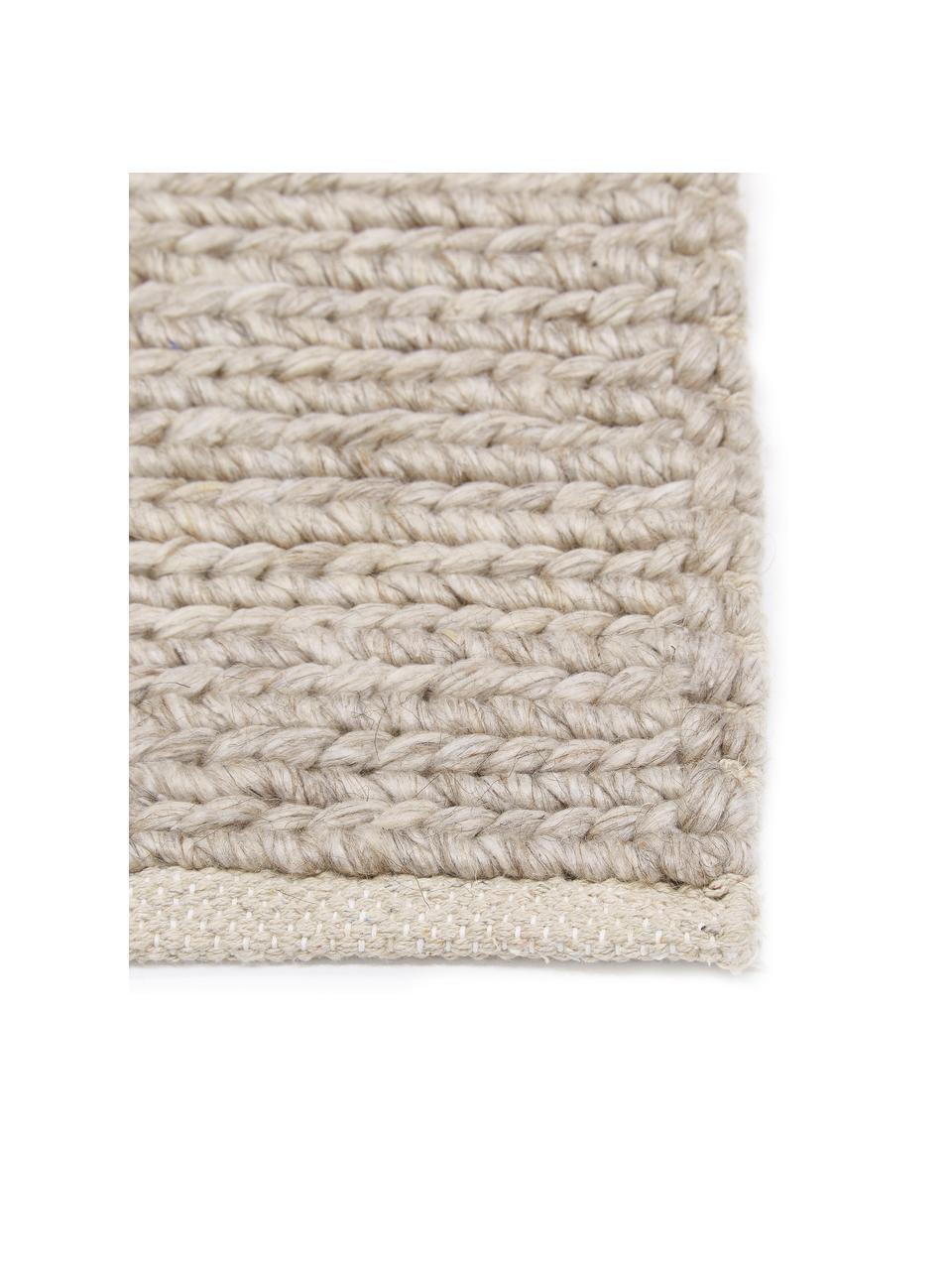 Ręcznie tkany dywan z wełny Uno, Taupe, S 200 x D 300 cm (Rozmiar L)