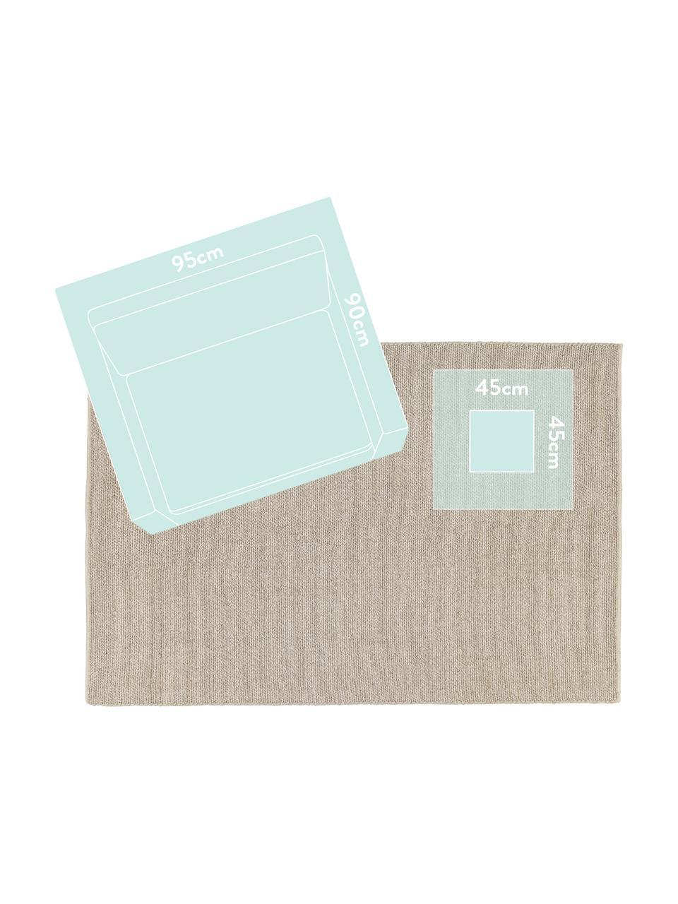 Tappeto in lana tessuto a mano con struttura intrecciata Uno, Retro: 100% cotone Nel caso dei , Taupe, Larg. 200 x Lung. 300 cm (taglia L)