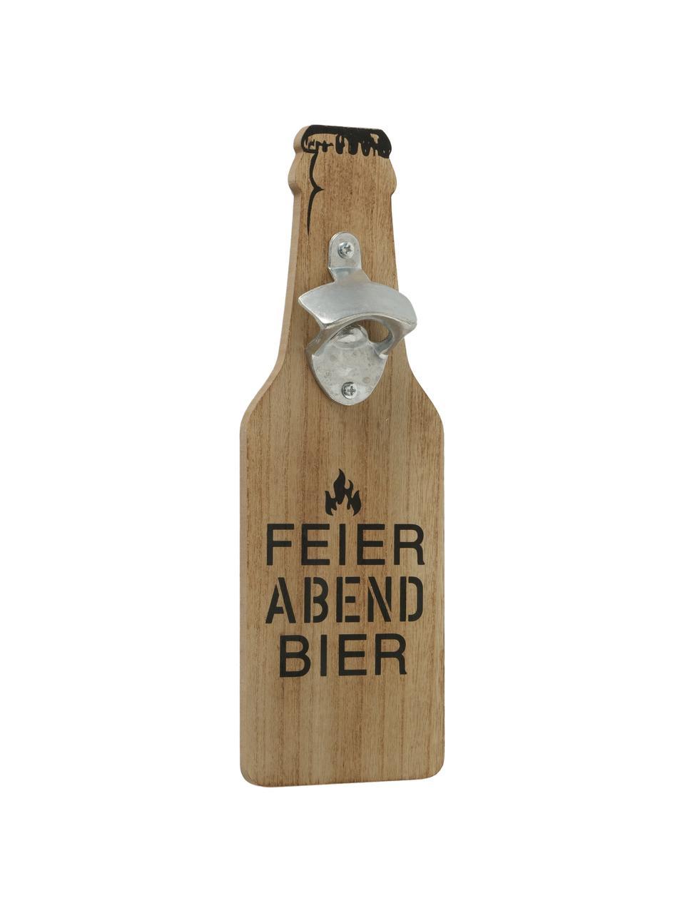 Flaschenöffner-Set Conny, 2-tlg., Holz, Metall, Holz, Schwarz, 10 x 30 cm