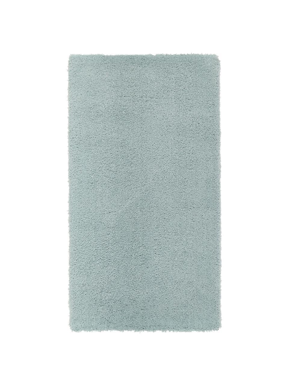 Tappeto morbido a pelo lungo verde menta Leighton, Retro: 70% poliestere, 30% coton, Verde menta, Larg.160 x Lung. 230 cm  (taglia M)